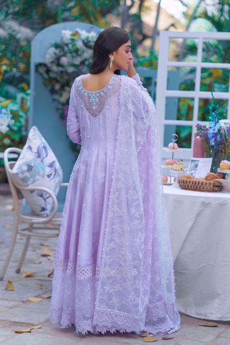 Noor, Lavender pure silk Kalidaar